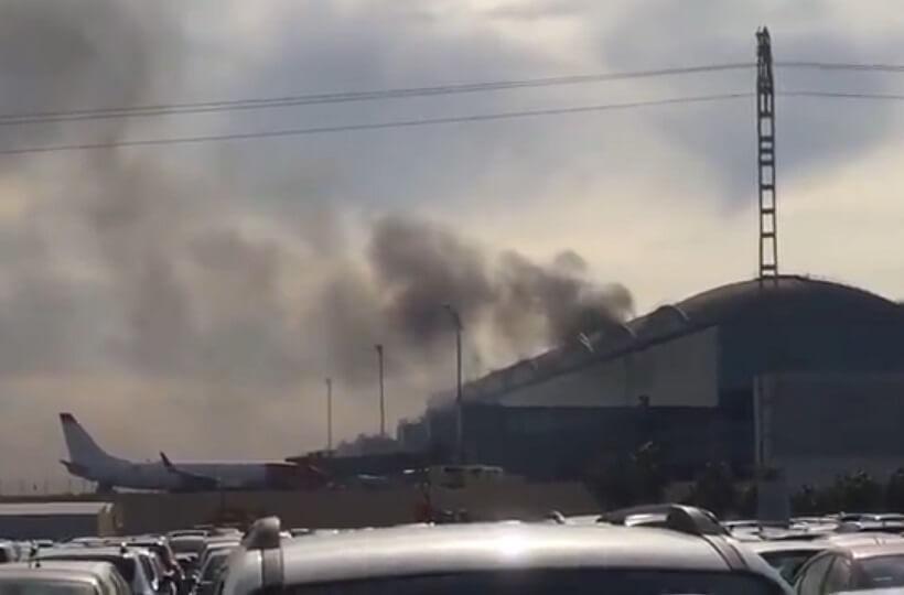 Flights diverted, passengers evacuated as Spain's Alicante airport burns