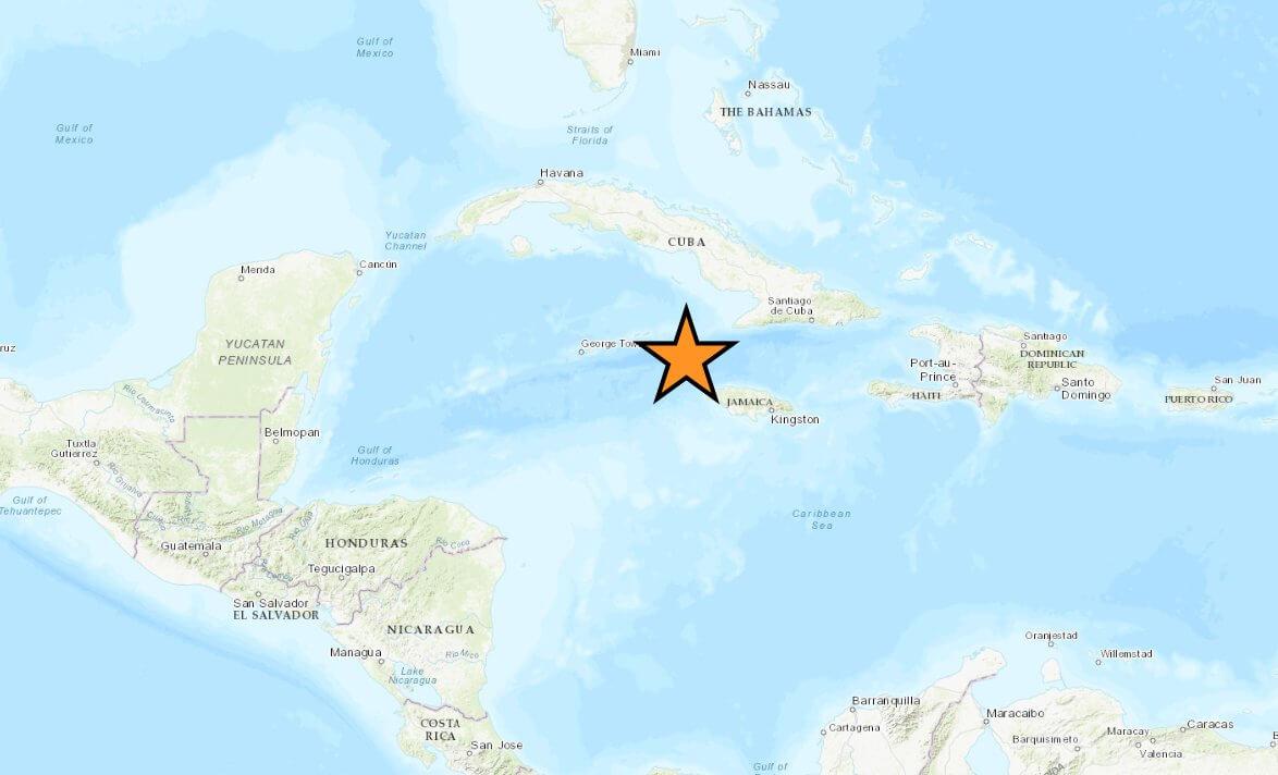 Powerful quake strikes between Jamaica and Cuba