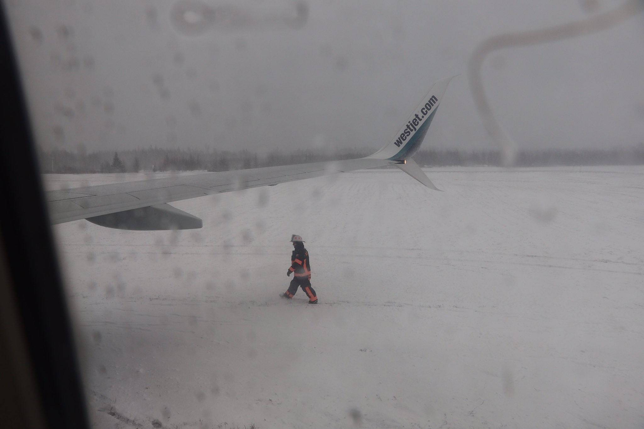Flying Toronto to Halifax on WestJet landed in the snow