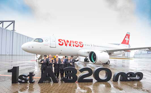 Swiss International Air Lines takes delivery of its first Airbus A320neo