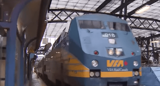 Via Rail Canada cancels all services on CN Rail network