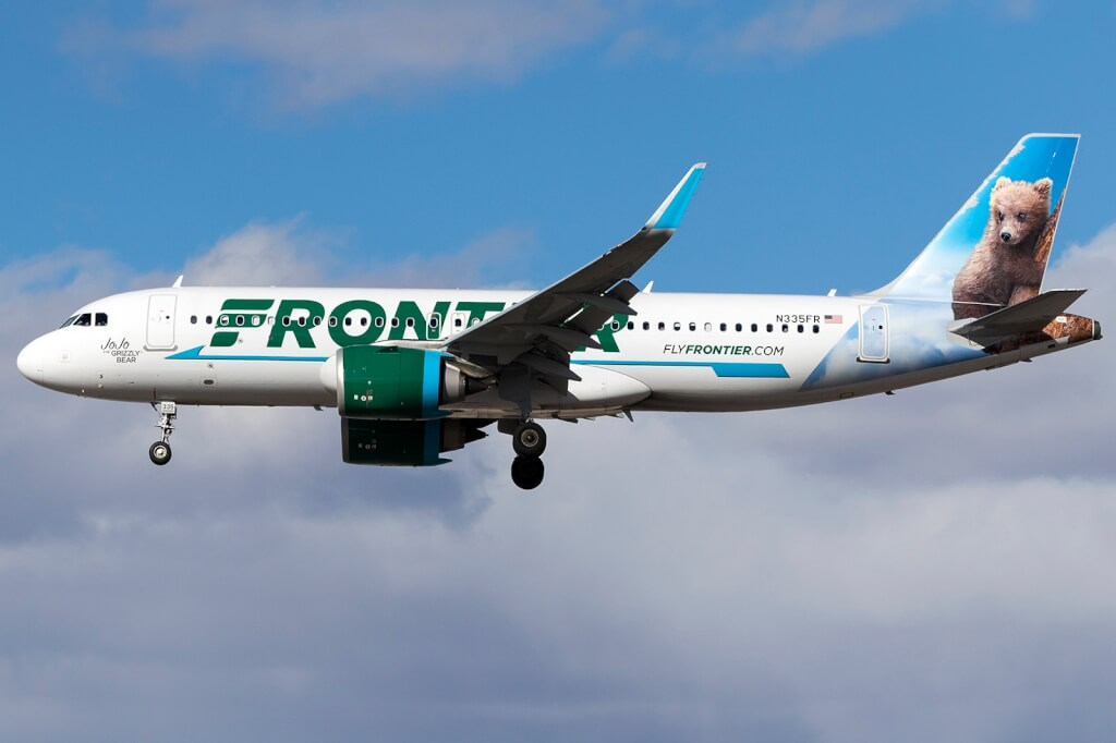 Frontier Airlines flies from Ontario Airport to Seattle