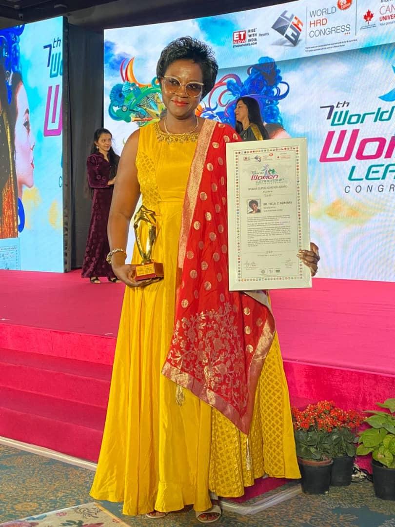 Zambia tourism businesswoman scoops prestigious award in India