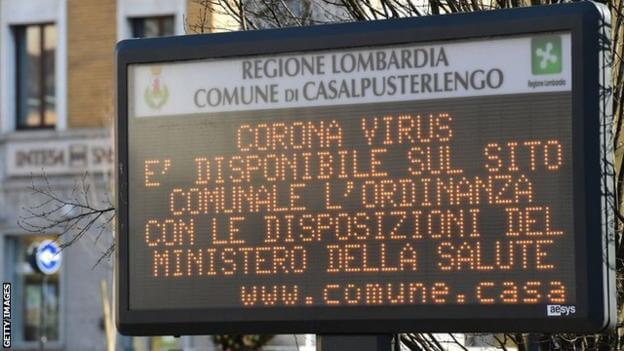 Three Serie A matches suspended by the coronavirus