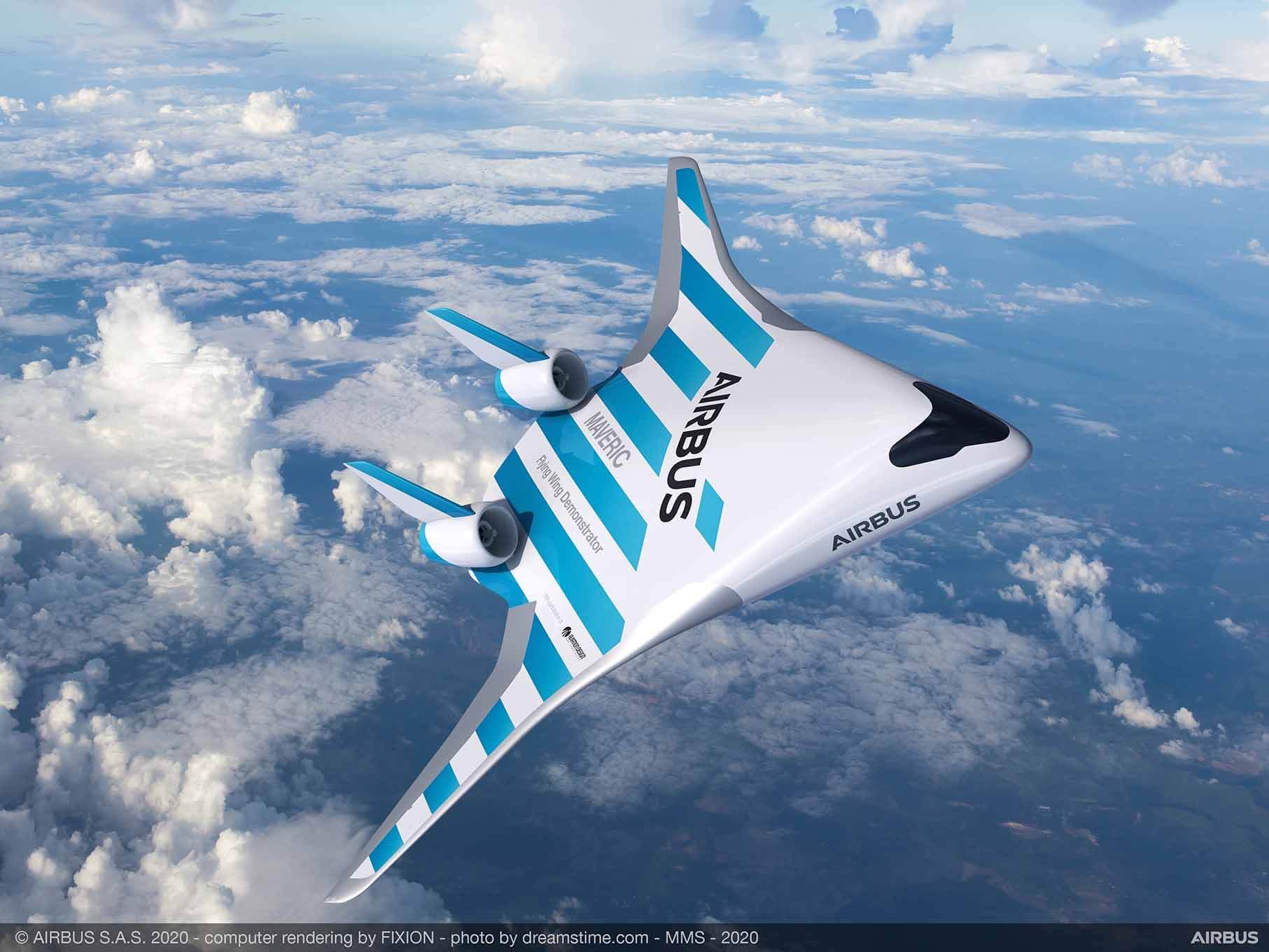 Airbus blended wing aircraft