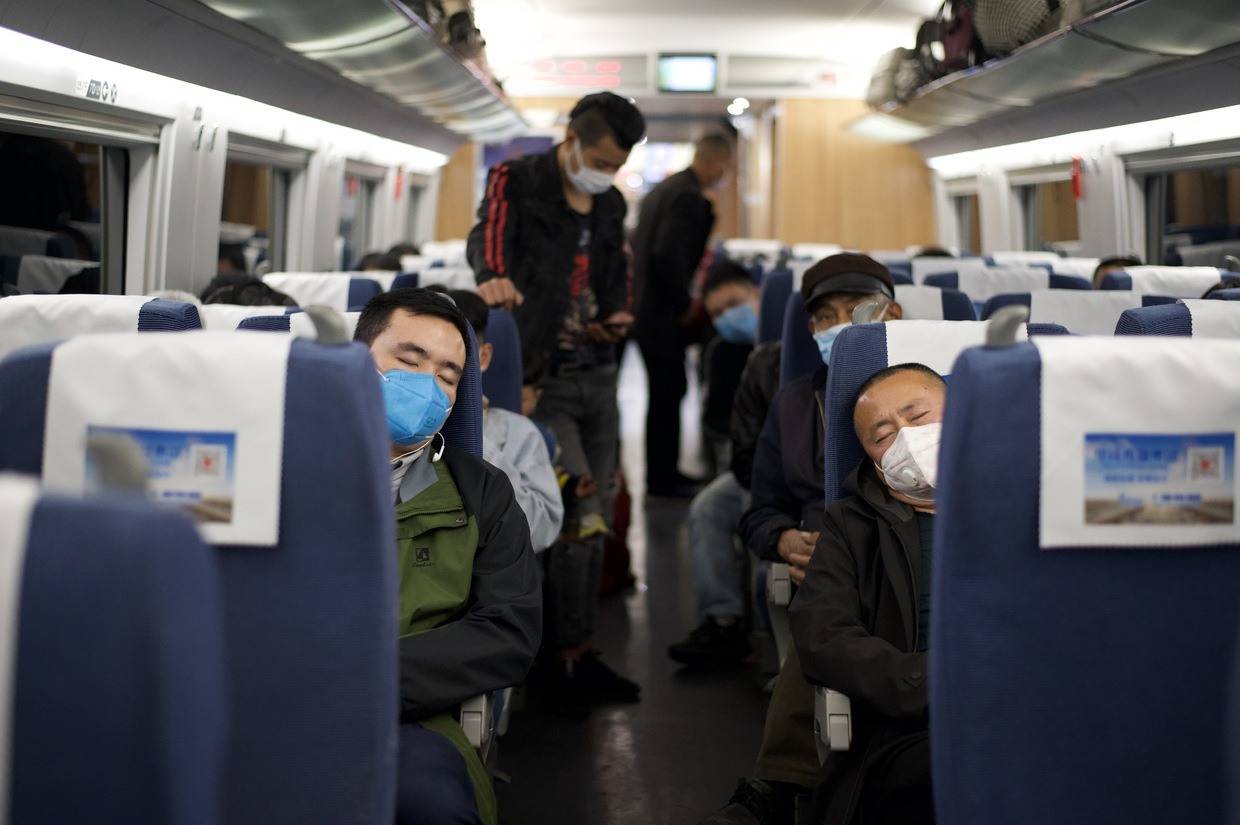 Residents of China's Hubei swarm trains as COVID-19 travel restrictions lifted