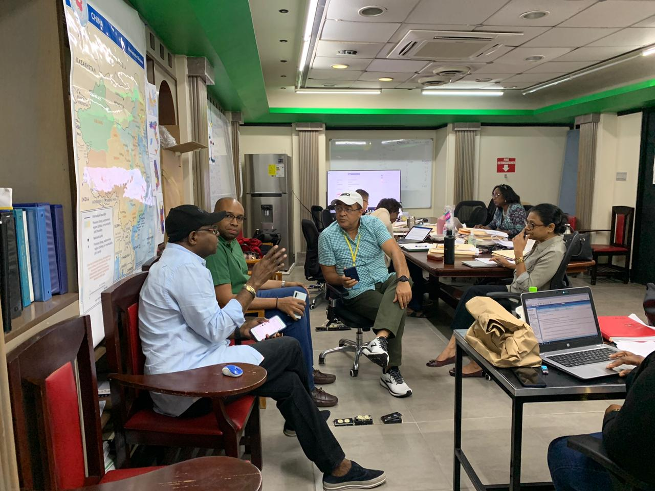 Jamaica: Bartlett, Tufton and Health Officials meet at COVID-19 Emergency Operation Center