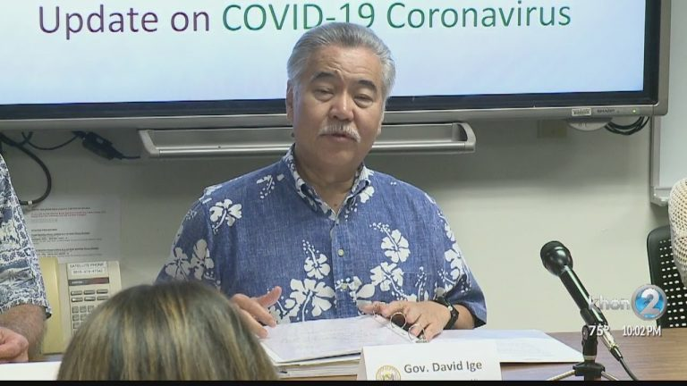 Hawaii Governor Ige Coronavirus warning: Avoid travel to Washington State