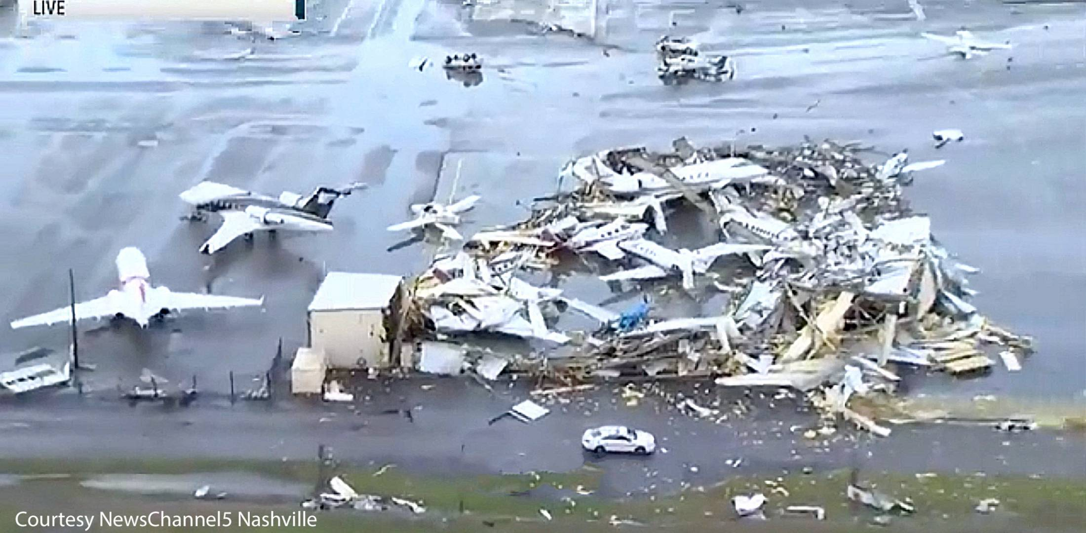 Tornadoes kill at least 22 in Tennessee and damage Nashville airport