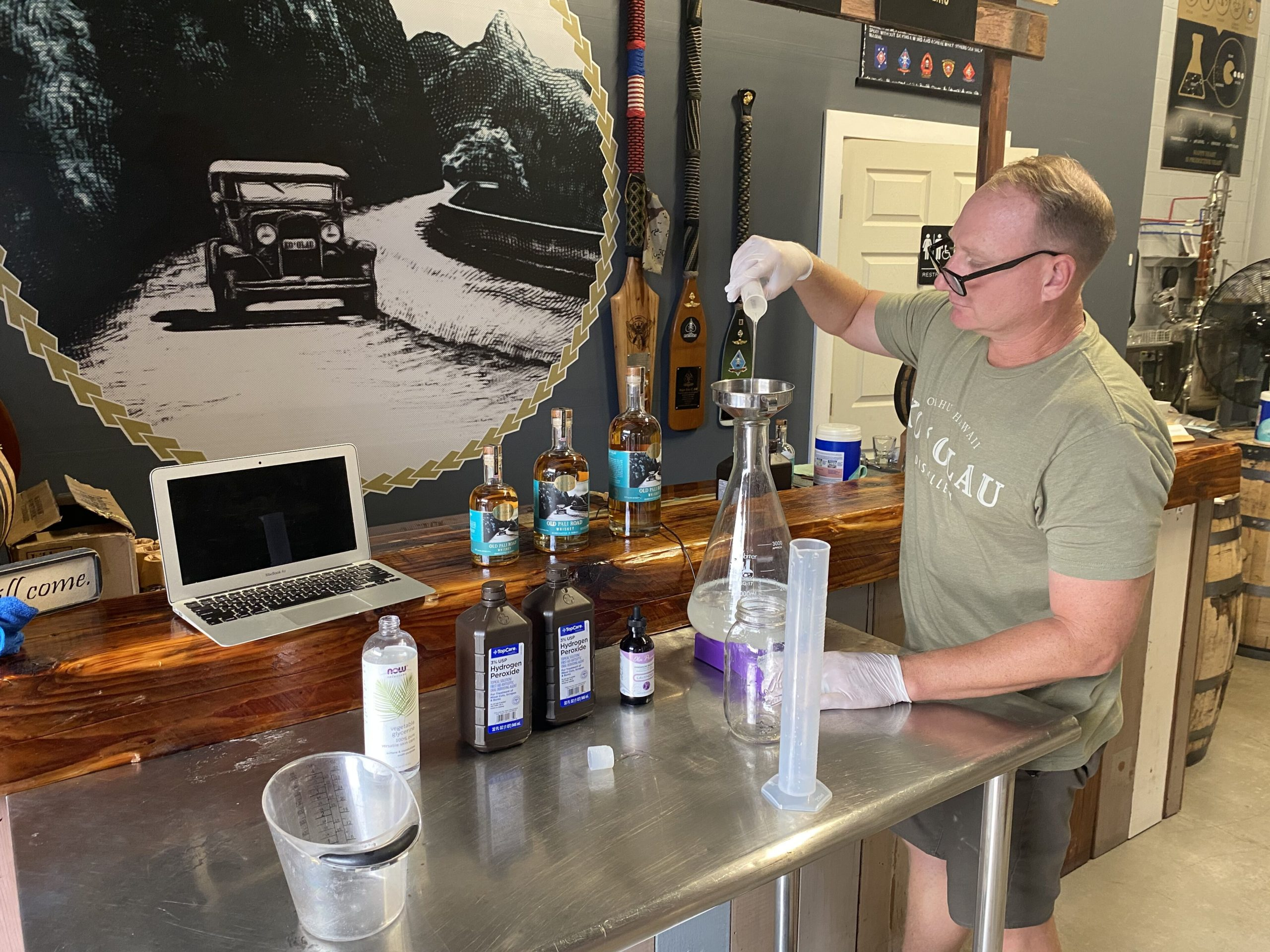 Amazon cuts off Hawaii from hand sanitizer: Whiskey Distillery and former US Marine takes action