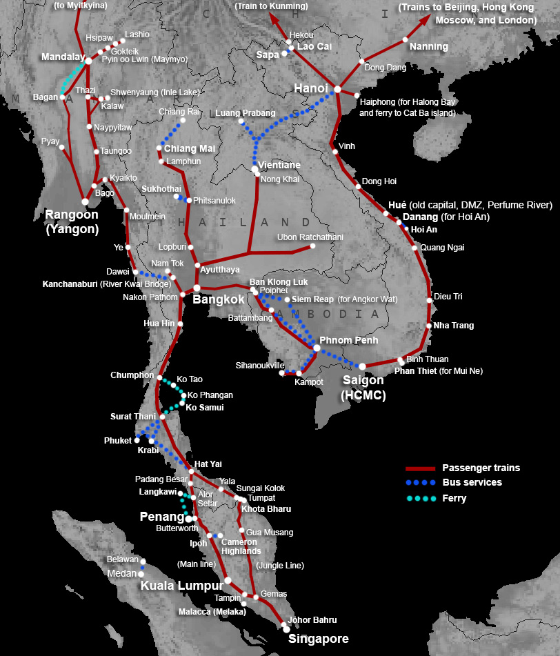 Billions invested in Thailand rail system connecting Asia