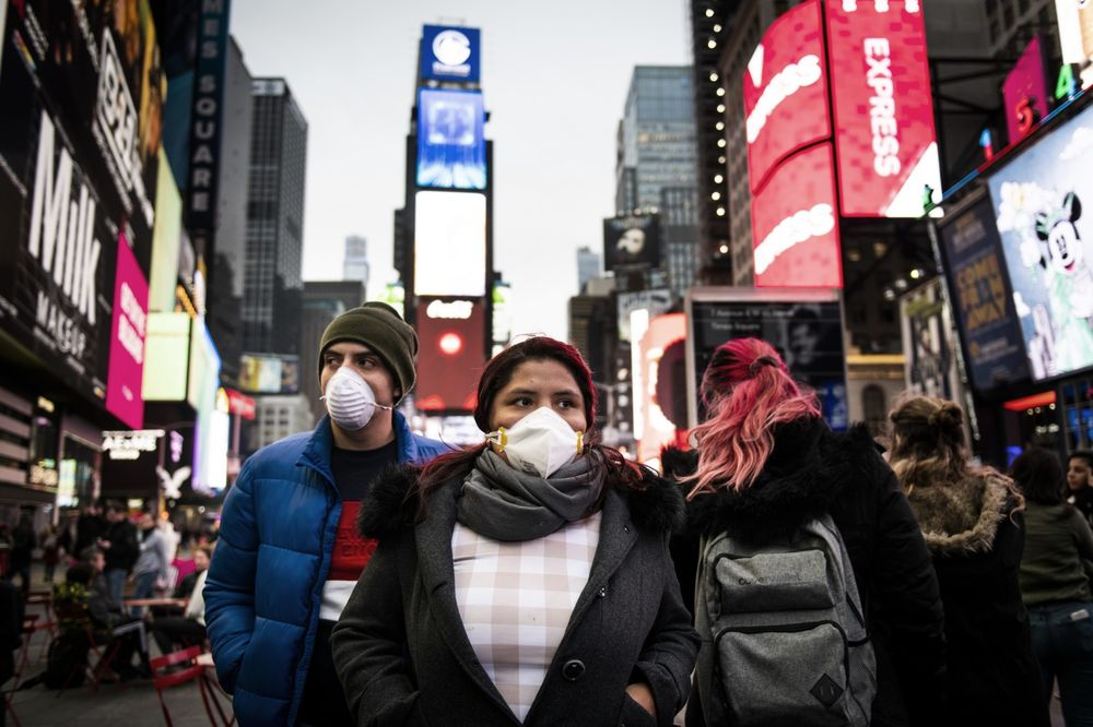 New Yorkers ordered to wear masks in public 'where social distancing not possible'