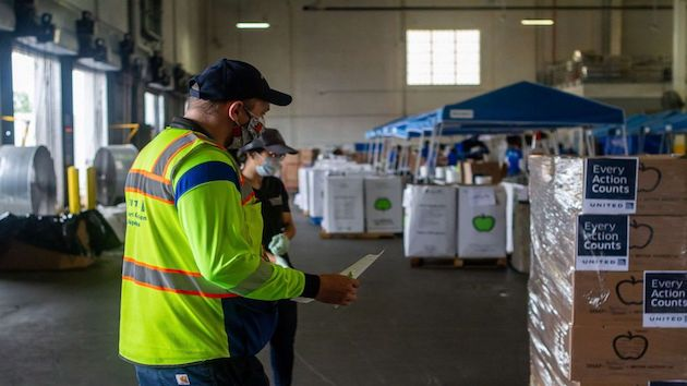 United Airlines convert cargo facilities into food distribution centers
