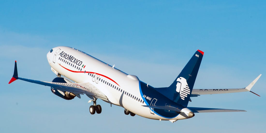 Aeromexico: Passenger numbers down 41.5% in March