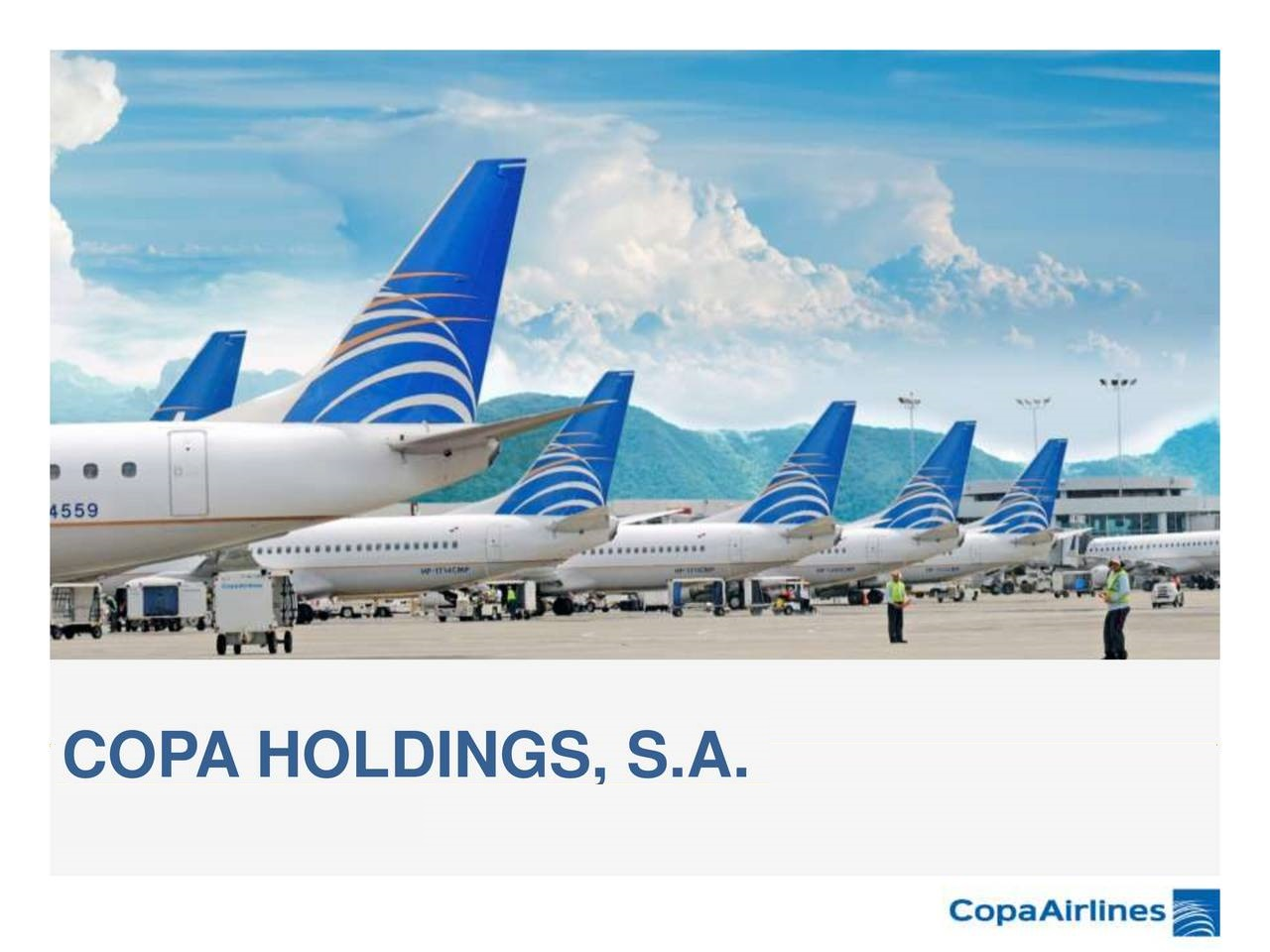 Copa Holdings: March capacity, traffic down significantly compared to last year
