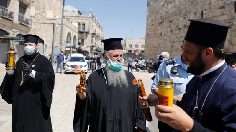 Orthodox Easter celebrated in Lockdown