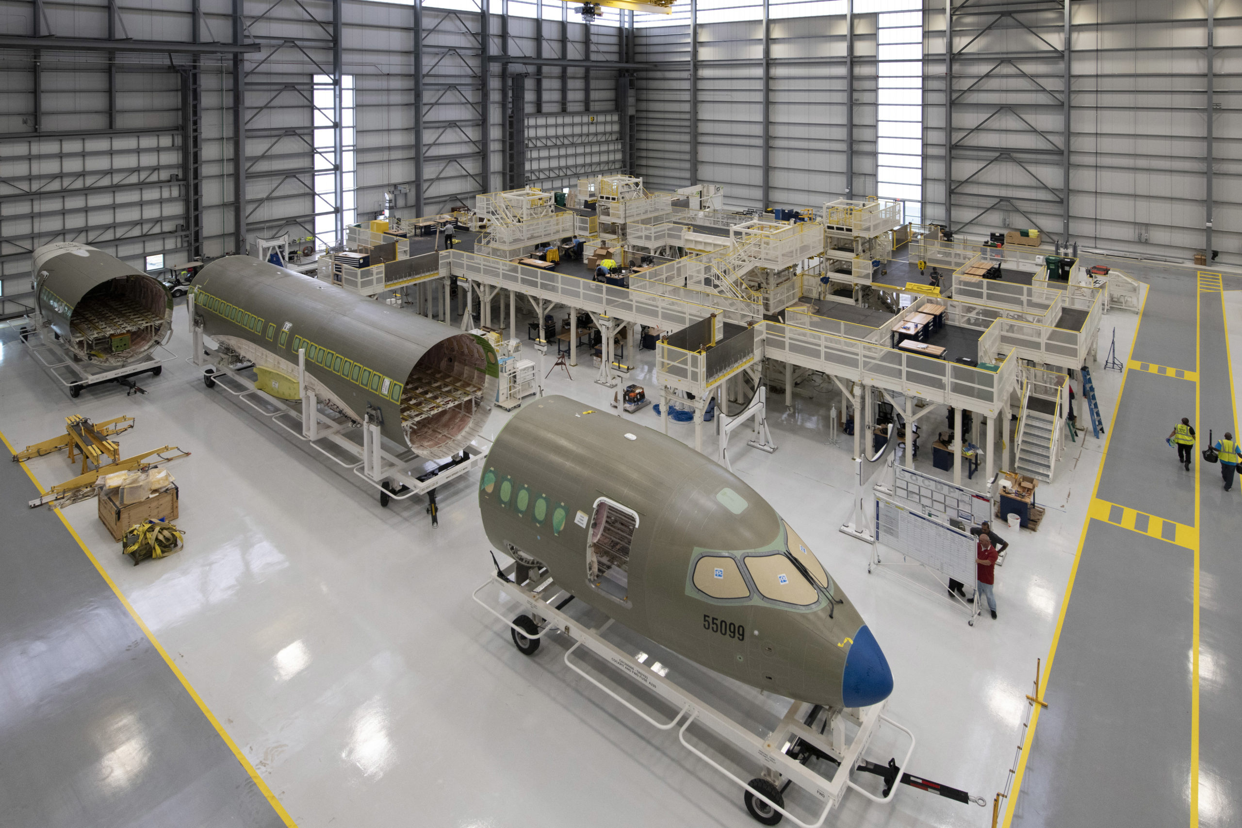 Airbus opens A220 US production hangar and welcomes second US customer