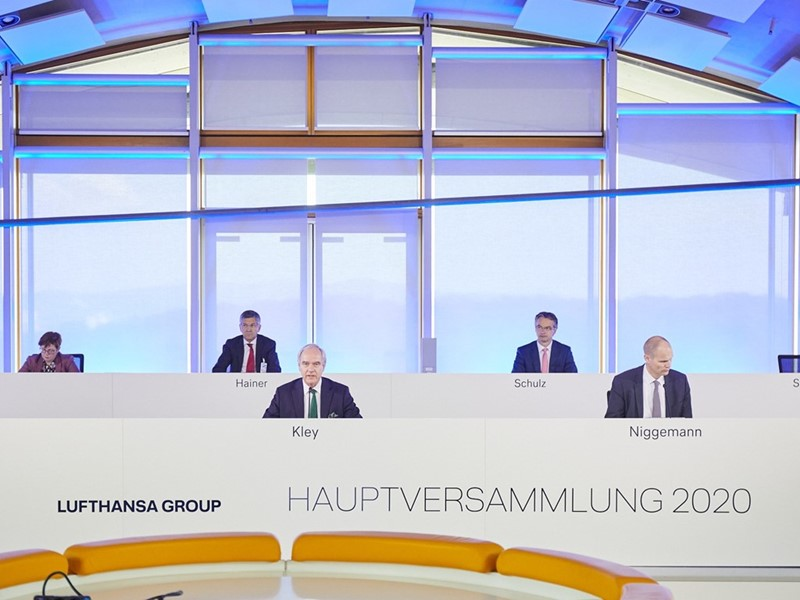 Lufthansa Annual General Meeting approves all agenda items