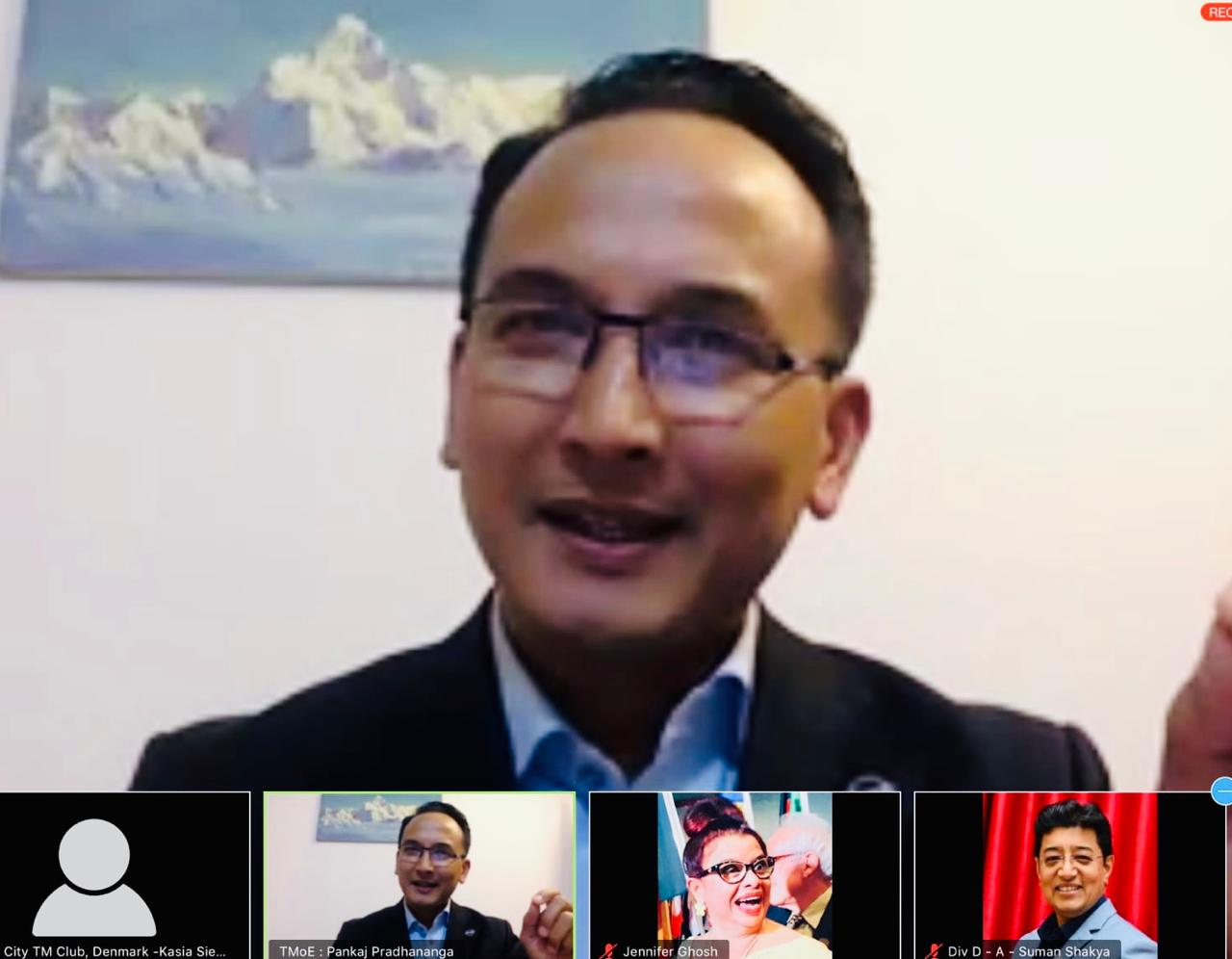 Nepal hosts a global meeting of Toastmasters during the lockdown
