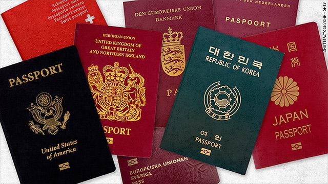 European passports dominate top ten list of world's most powerful passports