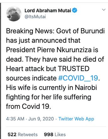 Monumentální tragédie pro Afriku, která se odehrává v Burundi?