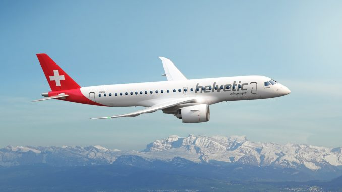 Helvetic Airways upgrades Embraer E2 order to larger aircraft