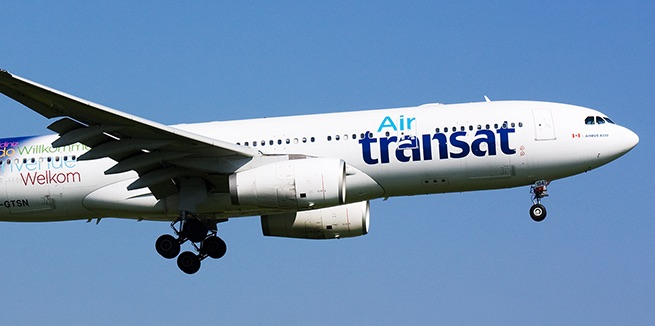 Air Transat is making its first commercial flights today