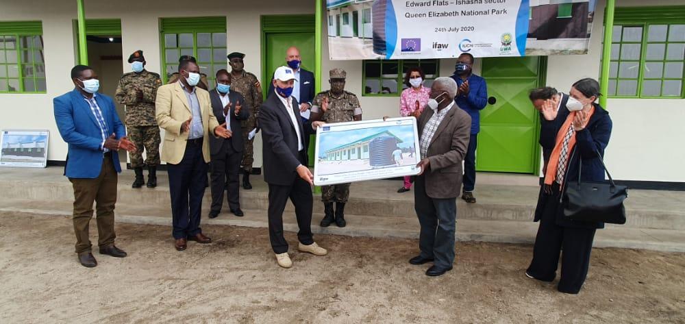 EU gifts ranger accommodation facility to Uganda Wildlife Authority