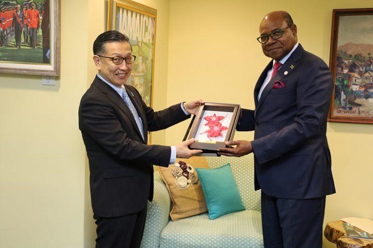 Japanese Ambassador Pays Farewell Courtesy Call on Minister Bartlett