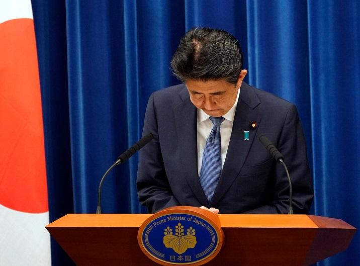 Japan's Prime Minister Shinzo Abe calls it quits