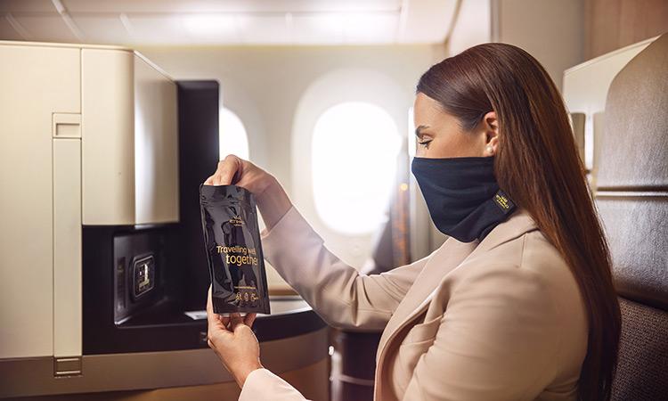 Etihad Airways introduces new face mask for premium passengers