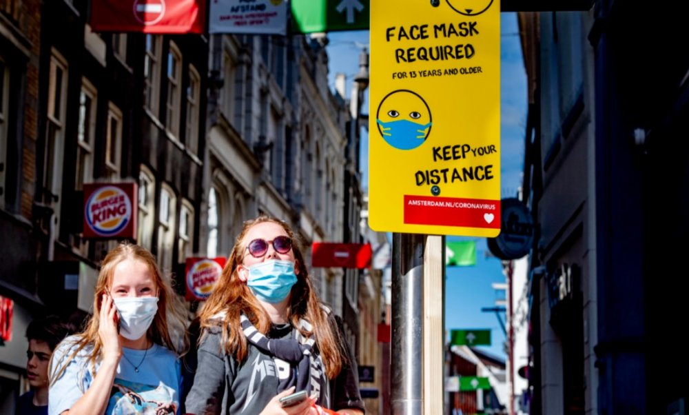 Amsterdam and Rotterdam now require face masks in busy city streets