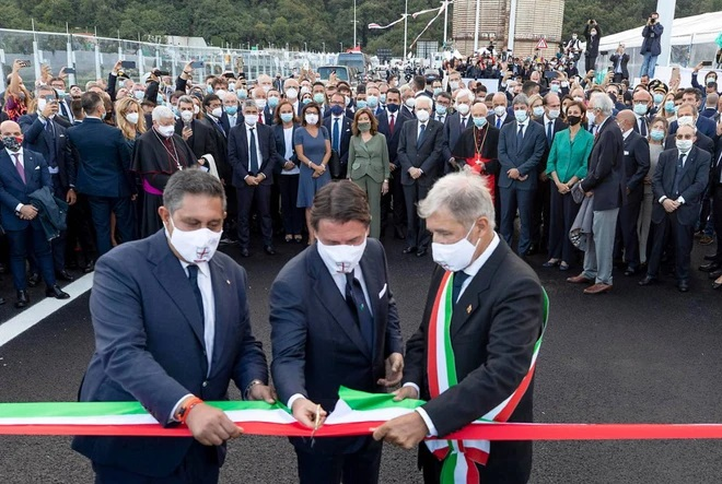 New Genoa Bridge Inauguration in Memory of Lives Lost