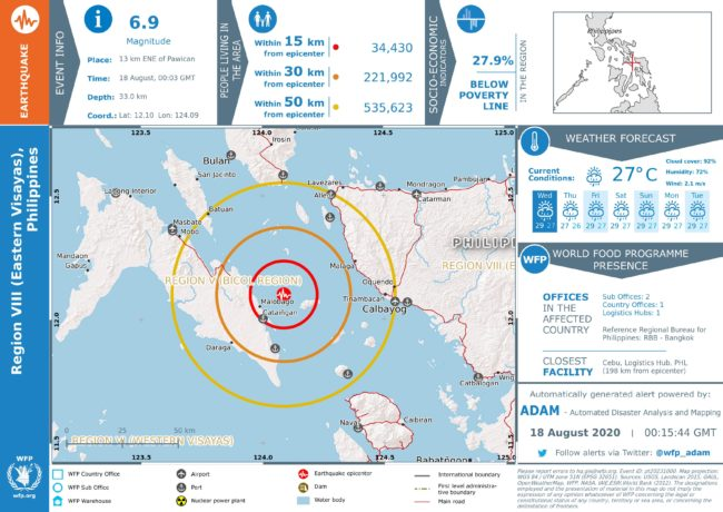 Earthquake in Philippines: 6.9