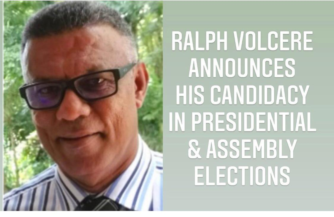 Independent Presidential candidate Ralph Volcere enters presidential race in Seychelles