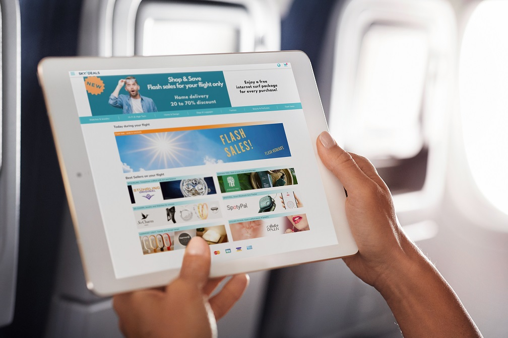 Lufthansa and Austrian Airlines test in-flight shopping platform SKYdeals