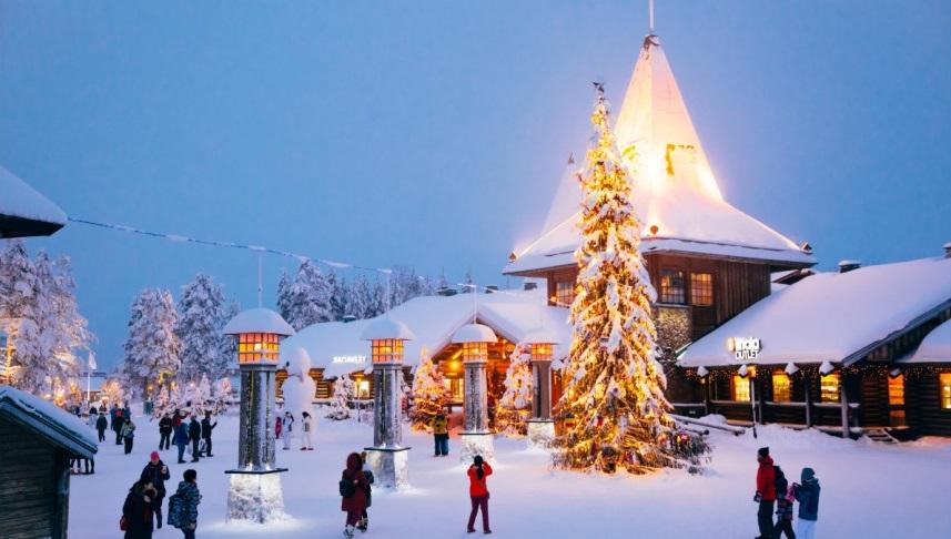The Official Hometown of Santa Claus preparing for Christmas season