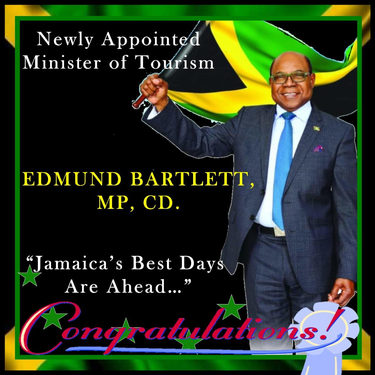 Jamaica confirms Tourism Minister Edmund Bartlett for another term