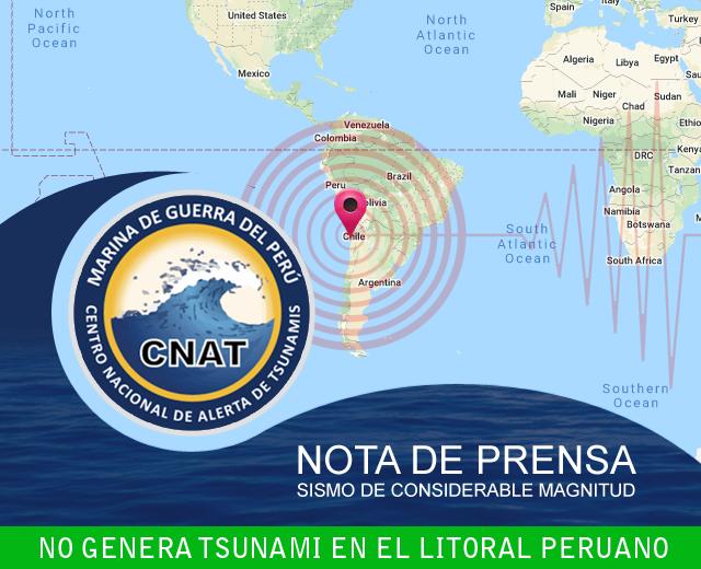 Bisa Tsunami sawise 7.0 Gempa bumi ing Chili