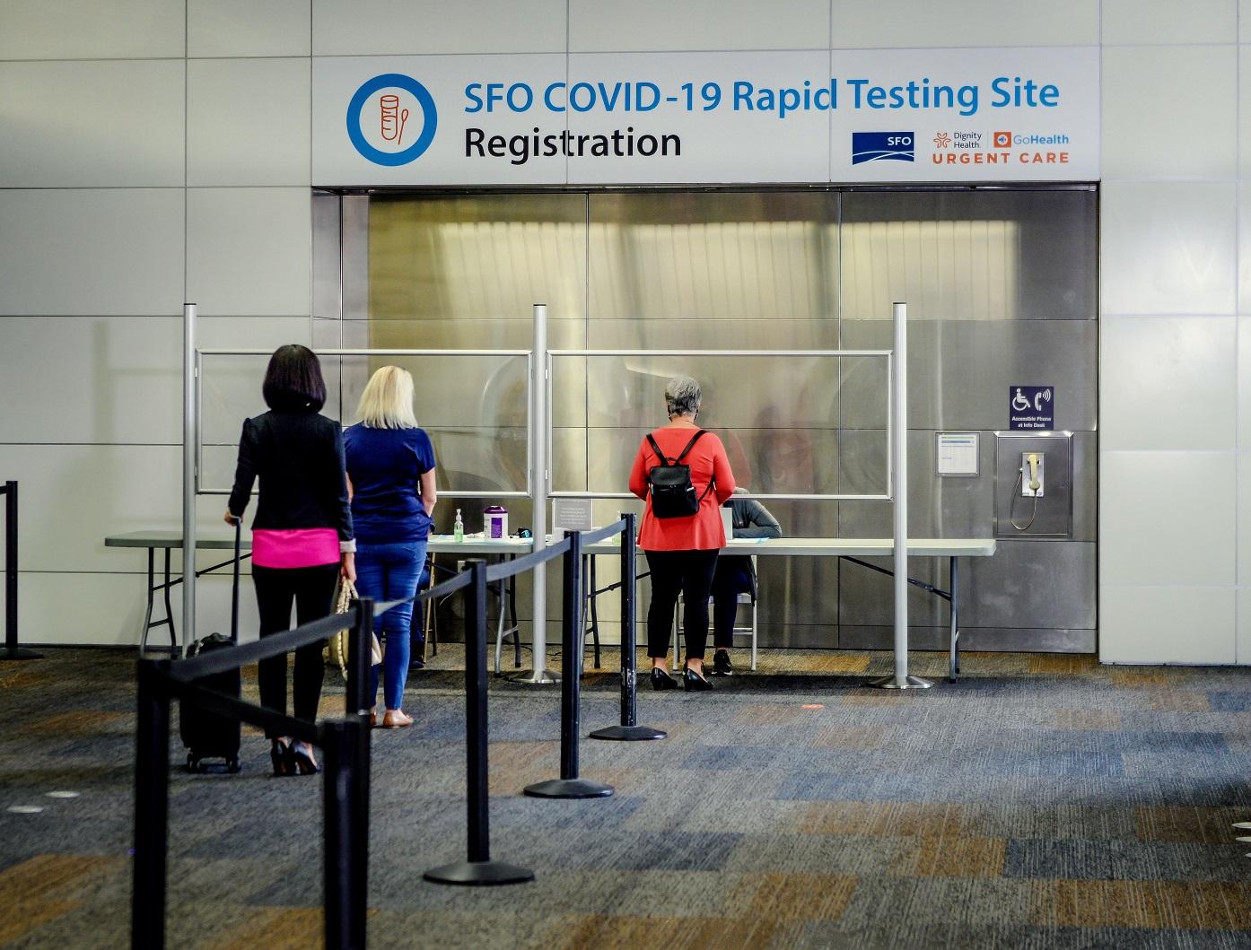 COVID-19 testing at San Francisco International Airport