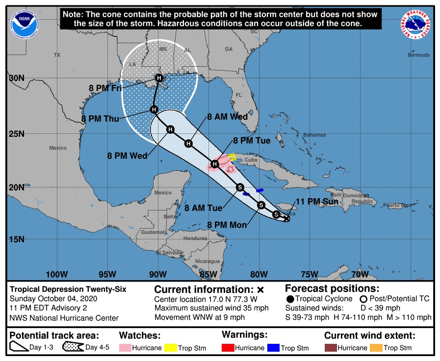 Hurricane:  Jamaica, Cuba, Cayman Islands, US Gulf Coast