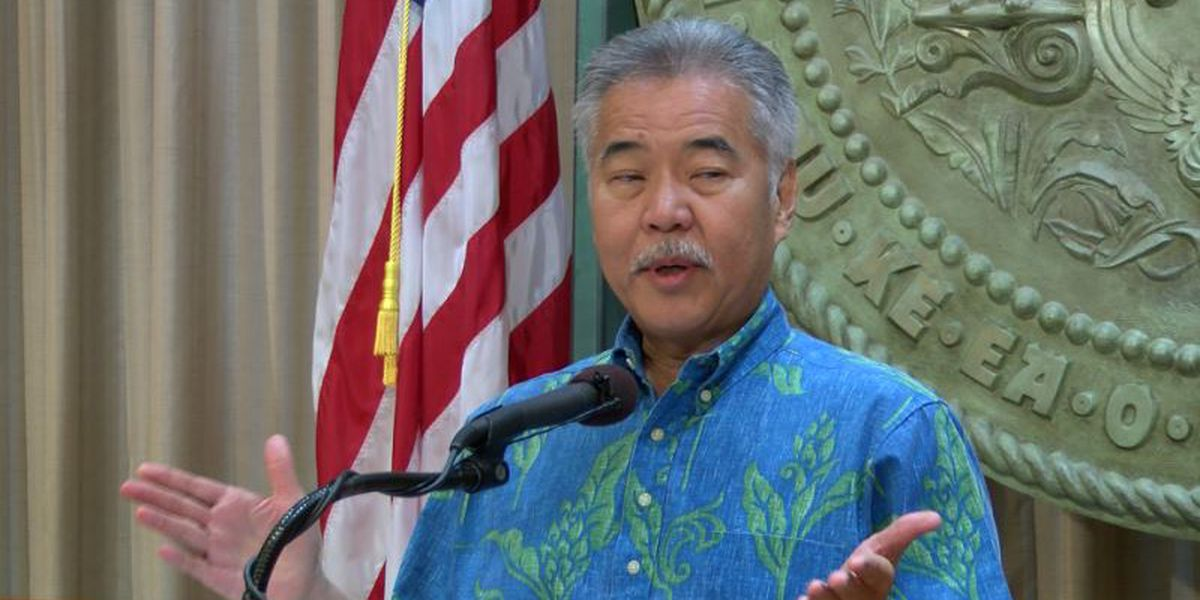 Hawaii Governor Ige declaring Hawaii Tourism open Thursday