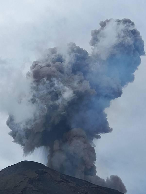 Volcano explodes in Italy