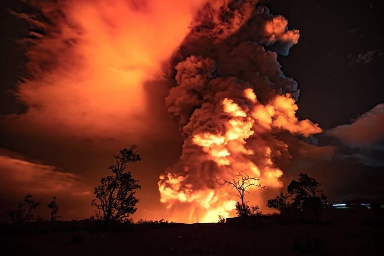 Volcano on Hawaii erupted