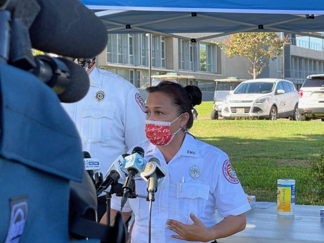 Tough Police Chief heard screaming when receiving her COVID-19 shot